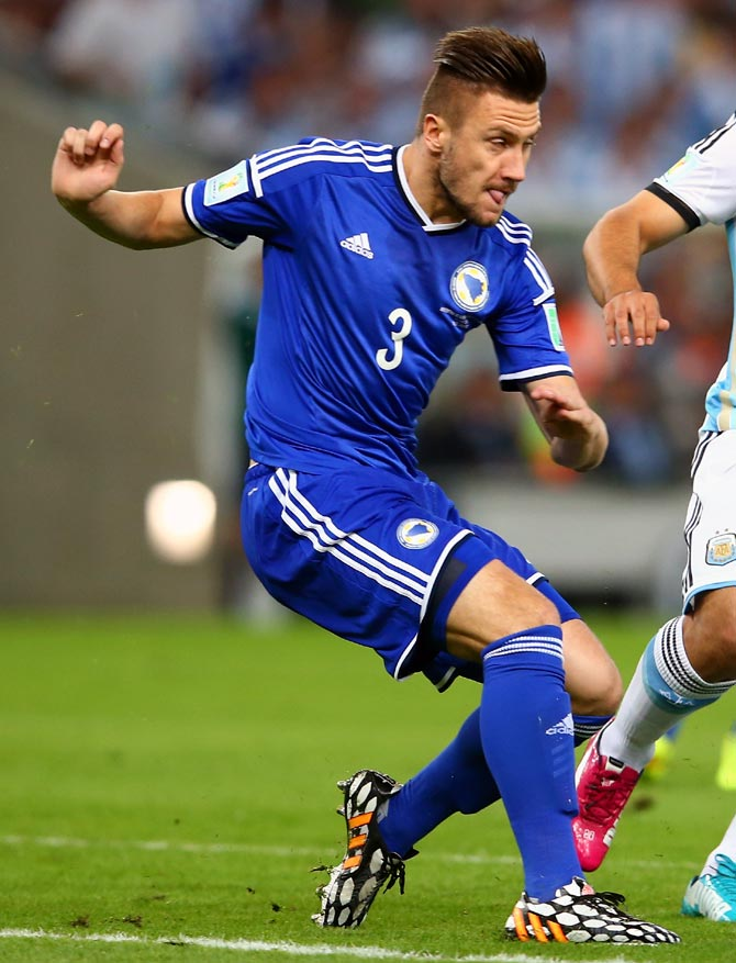 Ermin Bicakcic of Bosnia and Herzegovina