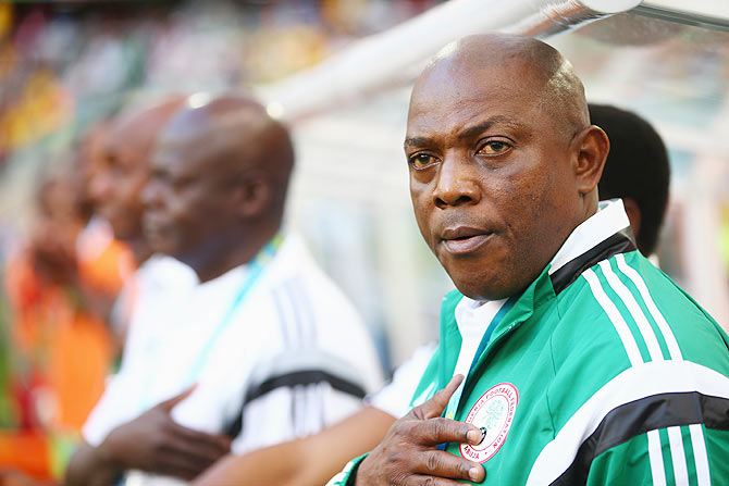 Head coach Stephen Keshi of Nigeria