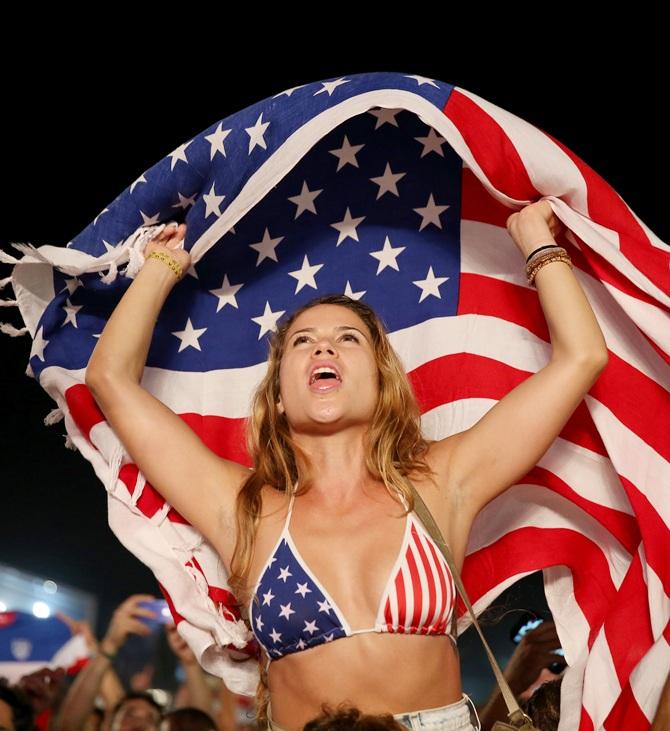 American soccer fans react