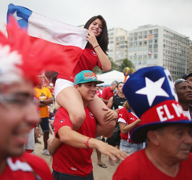 Chilean soccer team fans