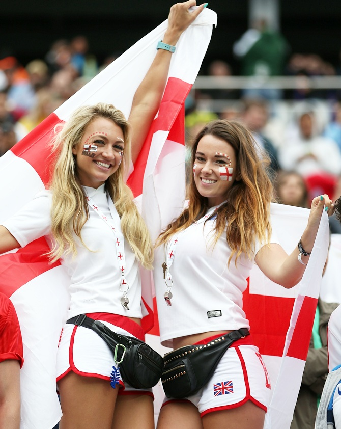 England fans enjoy the atmosphere prior to the 2014 FIFA World Cup Brazil Group D match against Uruguay
