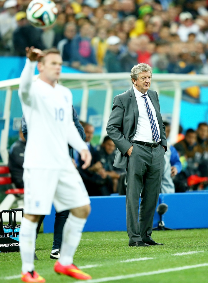 England manager Roy Hodgson of England looks on
