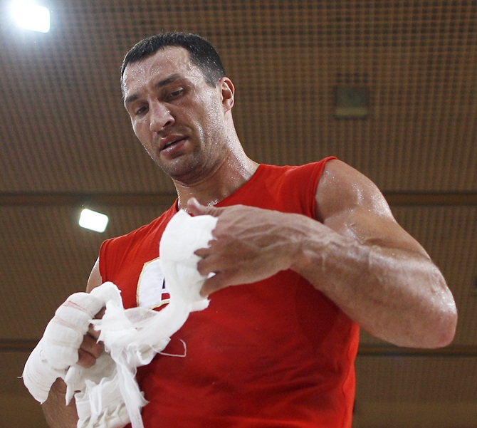 Ukrainian heavyweight boxing world champion Vladimir Klitschko