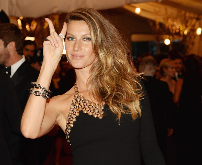 Gisele Bundchen attends an exhibition in New York City