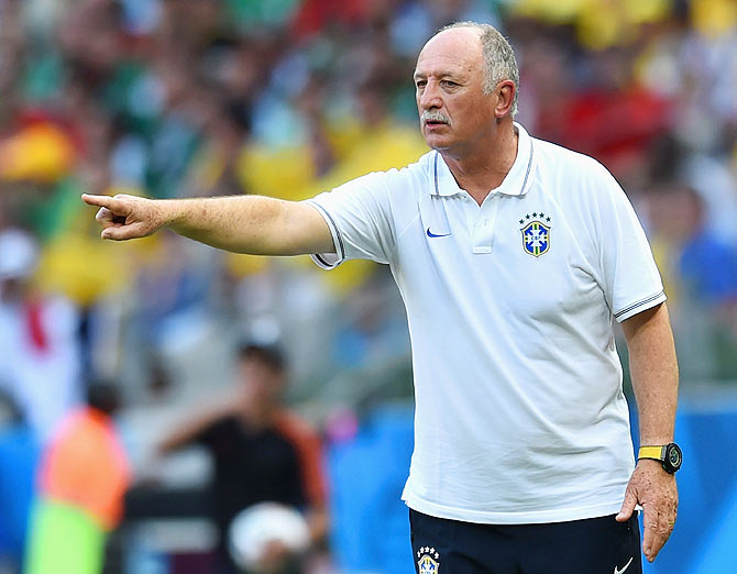 Head coach Luiz Felipe Scolari of Brazil