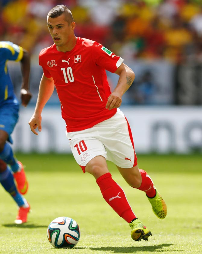 Granit Xhaka of Switzerland
