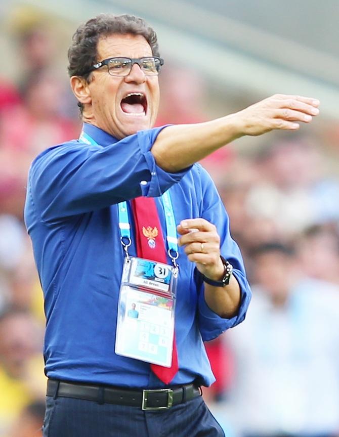 Head coach Fabio Capello of Russia gestures