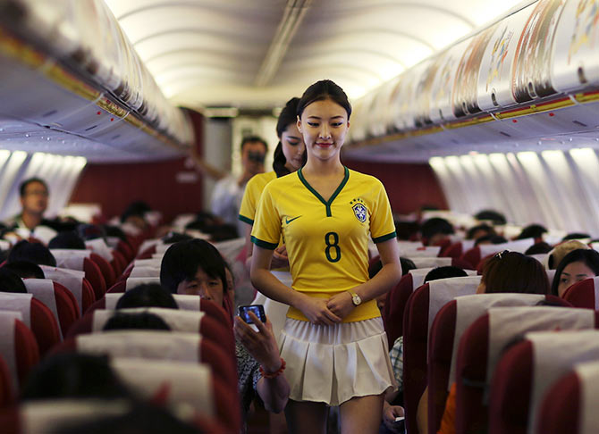 PHOTOS: Chinese airline celebrates World Cup in style!