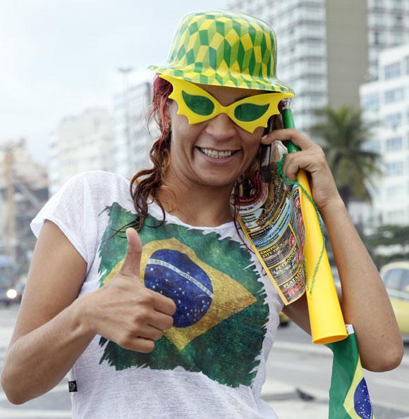 A Brazil fan