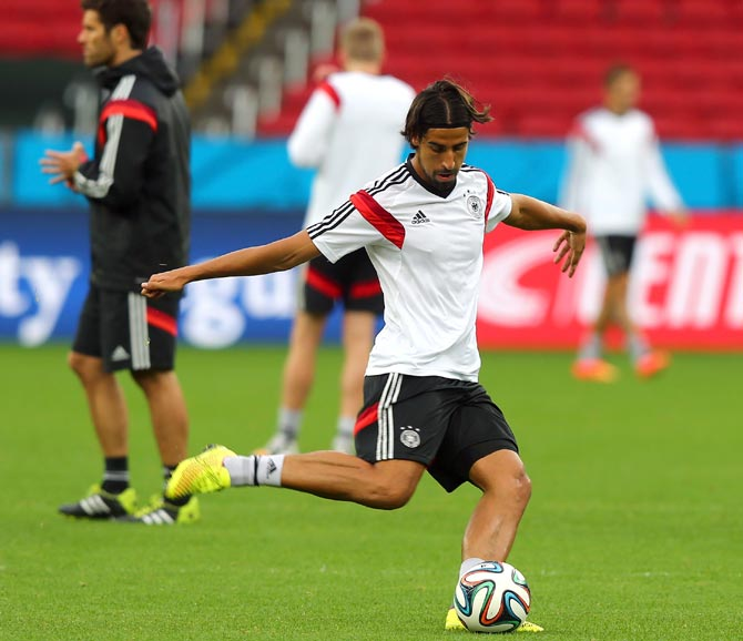 Sami Khedira of Germany shoots the ball