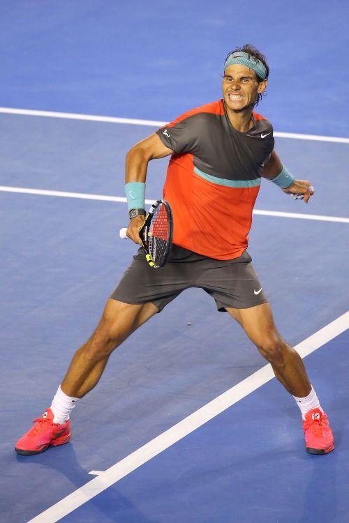 Rafa Nadal celebrates.