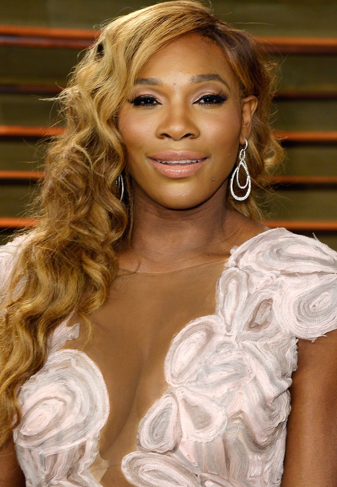 Serena Williams at the 2014 Vanity Fair Oscar Party, hosted by Graydon Carter.