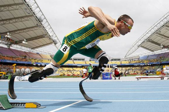 Oscar Pistorius during a track and field meet