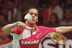 Rediff Sports - Cricket, Indian hockey, Tennis, Football, Chess, Golf - Saina knocked out of All-England Championship quarters