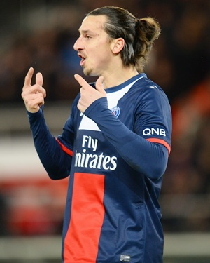 Ligue 1: Ibrahimovic shines again as PSG stay eight points clear