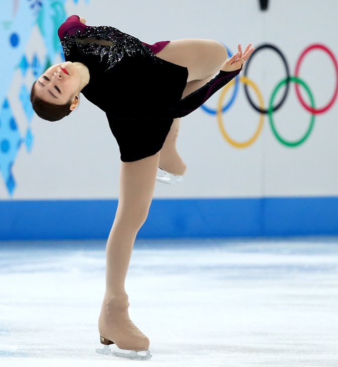 Yuna Kim of South Korea competes in the Figure Skating Ladies' Free Skating.