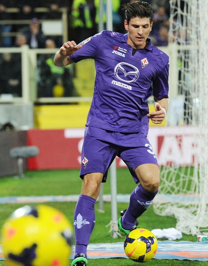 Mario Gomez of Fiorentina