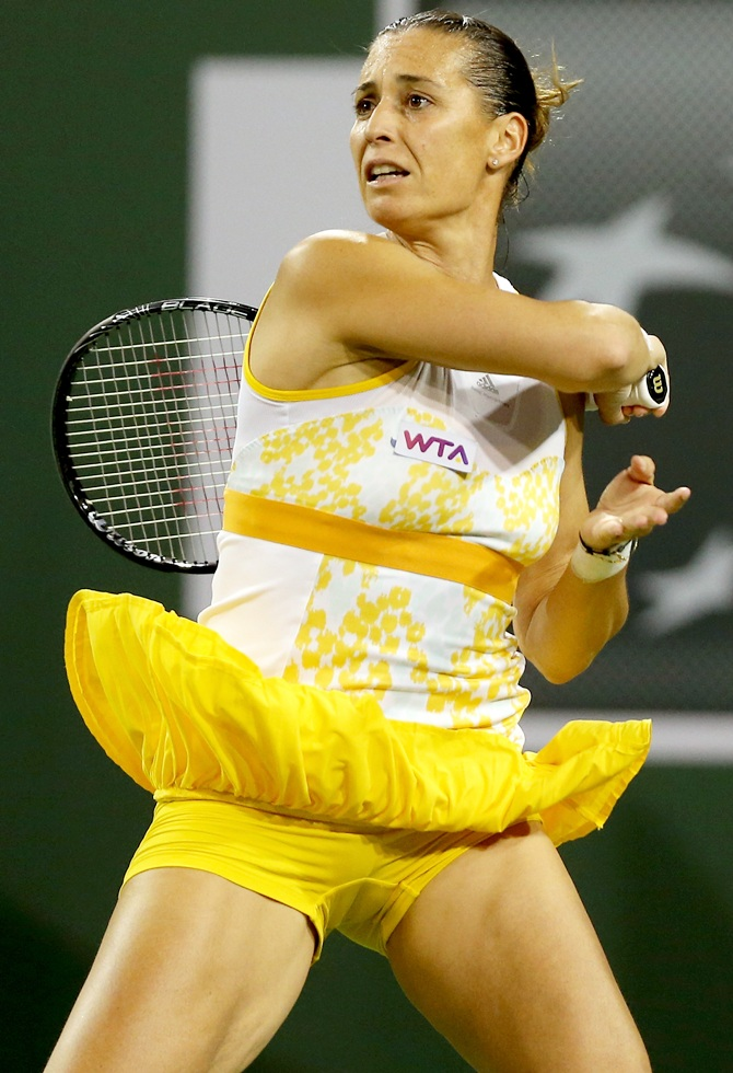 Flavia Pennetta of Italy return