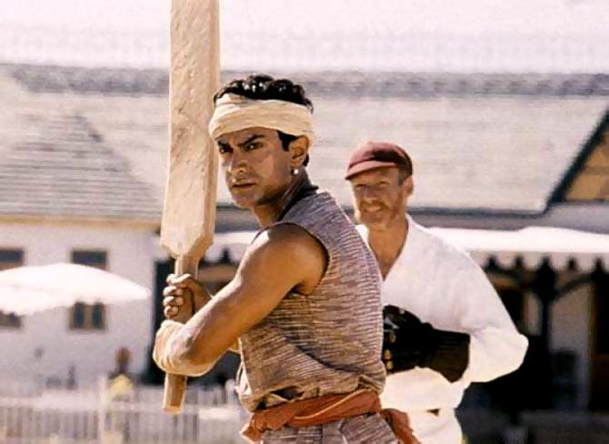 Aamir Khan in a still from Lagaan