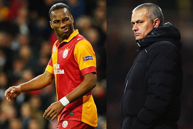 Didier Drogba ahd Jose Mourinho