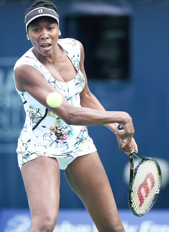 Venus Williams of the USA in action