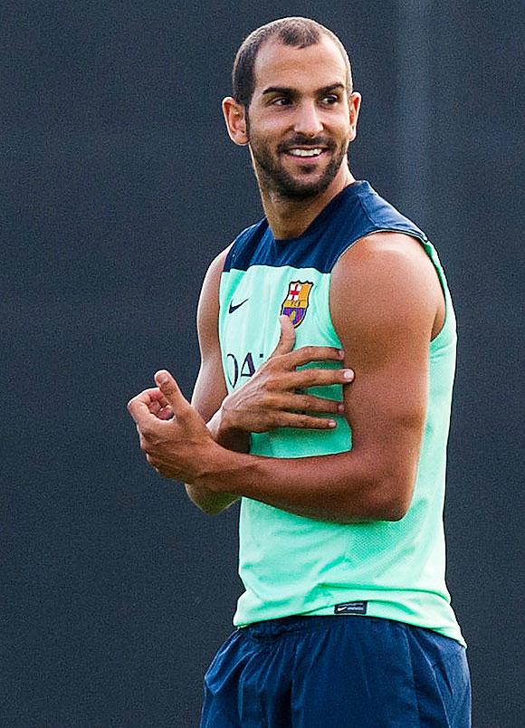 Martin Montoya of FC Barcelona