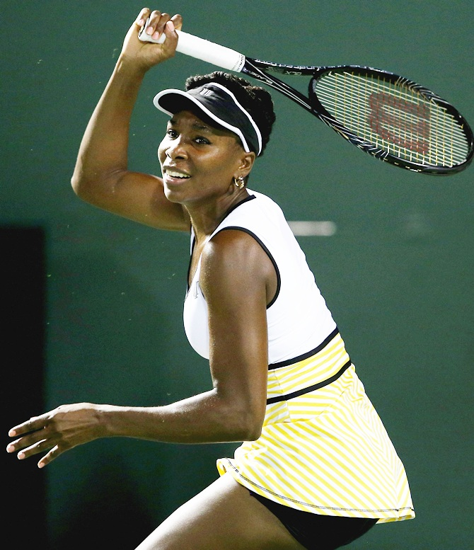 Venus Williams of the United States in action
