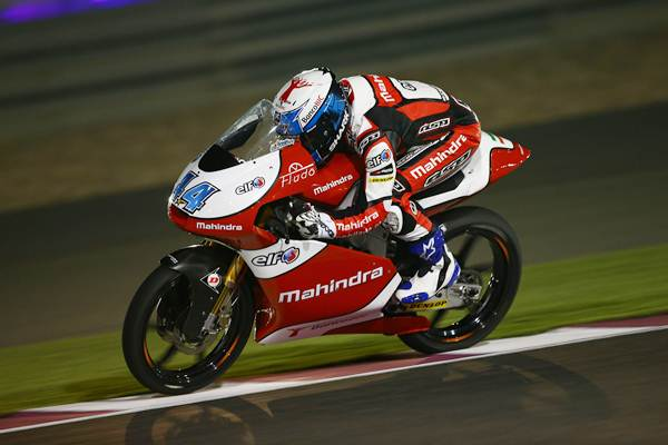 Mahindra Racing rider Miguel Oliveira during the Qatar MotoGP