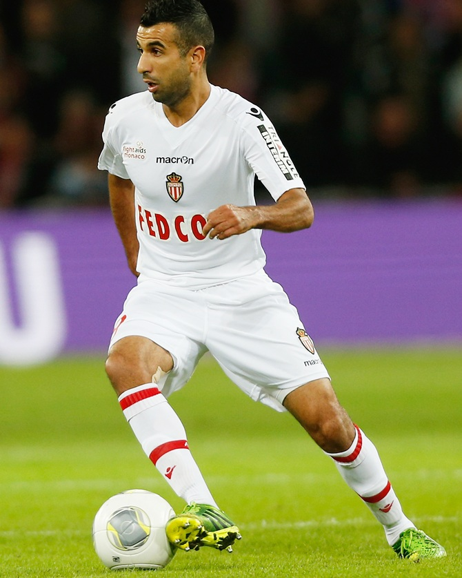 Mounir Obbadi of Monaco in action