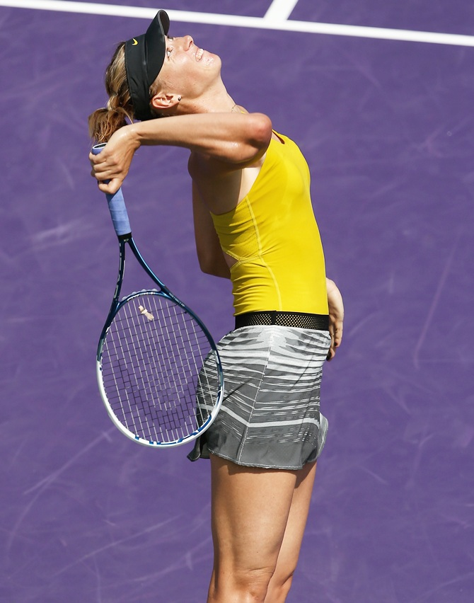 Maria Sharapova of Russia serves