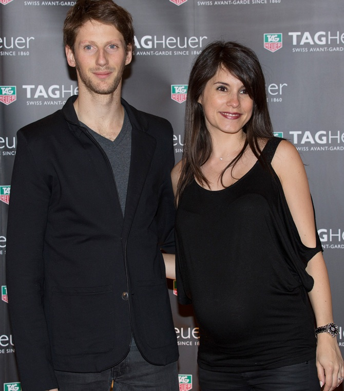 Romain Grosjean and his wife Marion Jolles