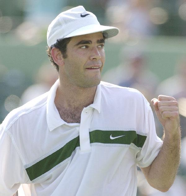 Pete Sampras celebrates his win at the Tennis Center of Crandon Park