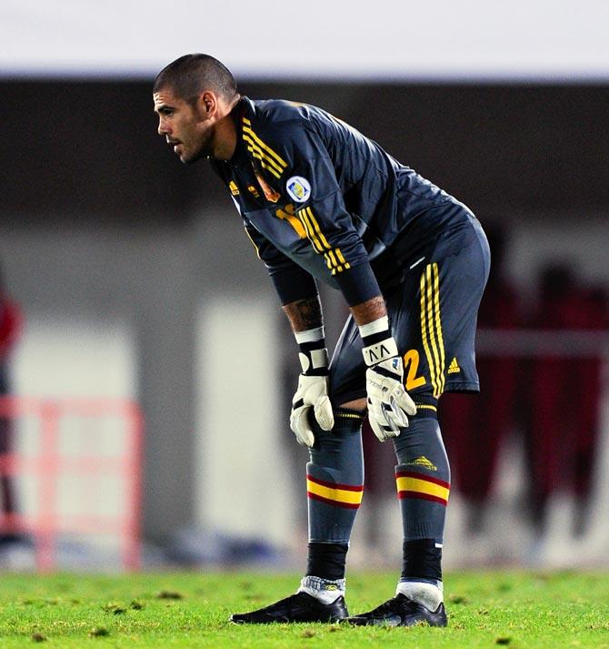 Spain goalkeeper Victor Valdes