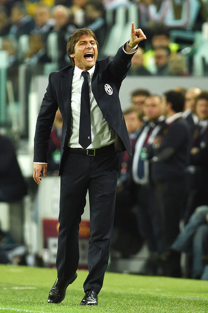 Coach Antonio Conte of Juventus