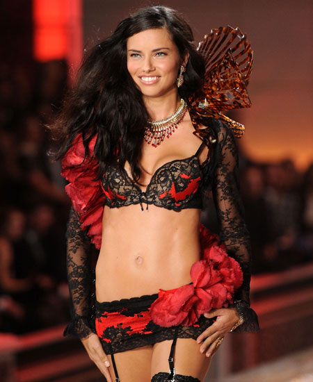 Model Adriana Lima walks the runway