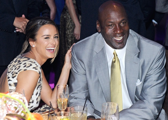 Michael Jordan (right) with wife Yvette Prieto