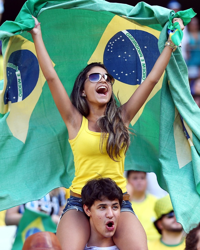 Brazil fans show their support
