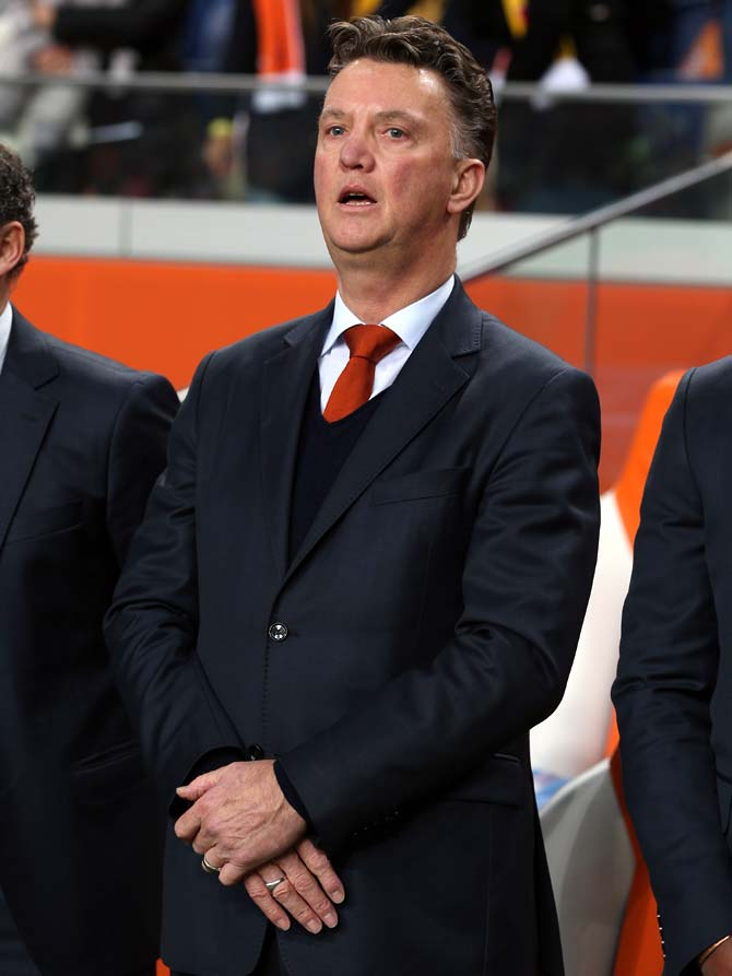 The Netherlands coach Louis van Gaa
