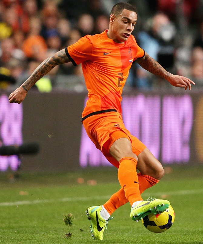 Gregory van der Wiel of Netherlands in action