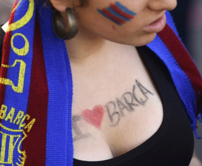 A Barcelona supporter