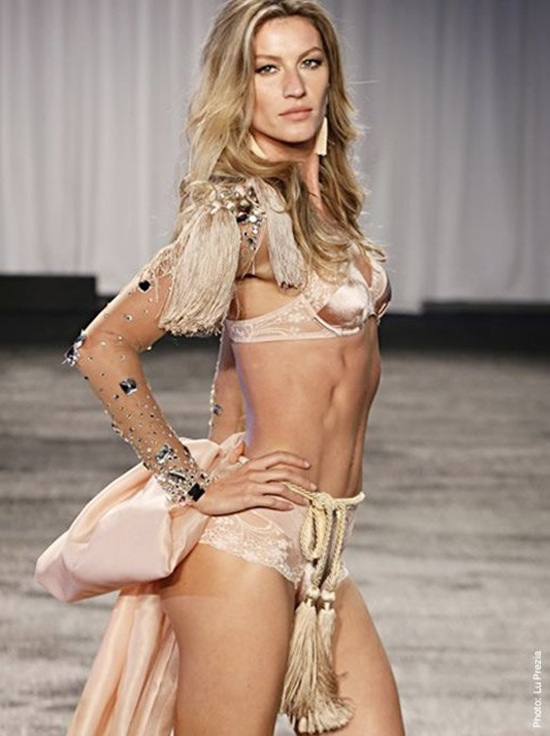 Model Gisele Bundchen walks the runway during the Victoria's Secret Fashion Show