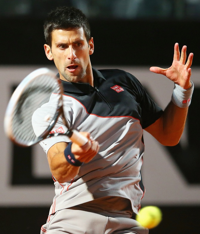 Novak Djokovic of Serbia in action
