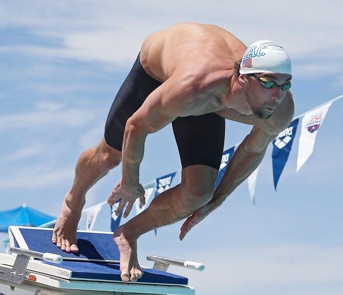 Michael Phelps competes