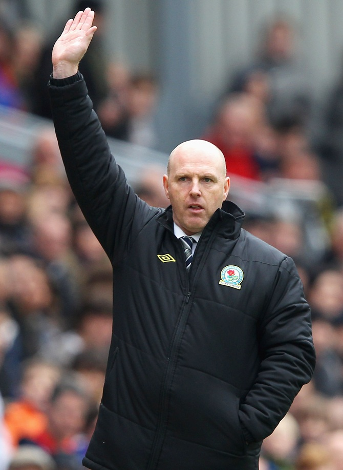 Steve Kean the manager of Blackburn Rovers