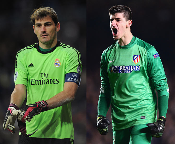 Iker Casillas and Thibaut Courtois