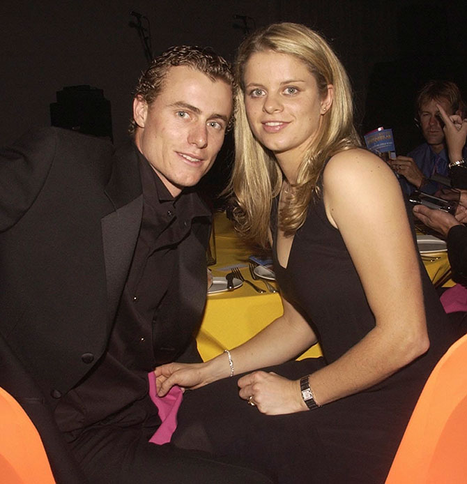 Lleyton Hewitt with Kim Clijsters