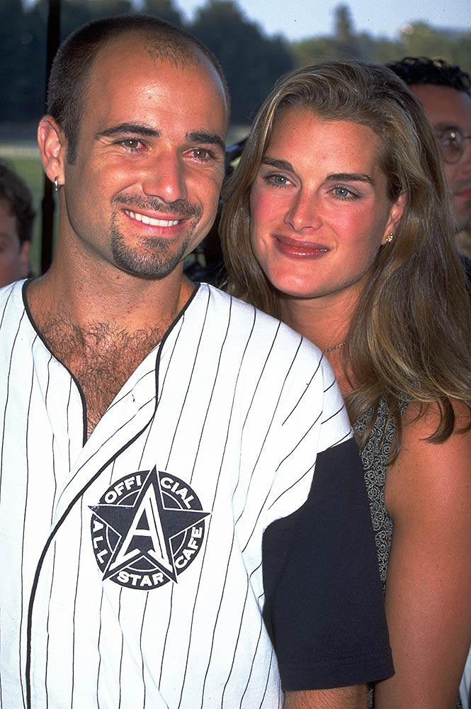 Andre Agassi and Brooke Shields