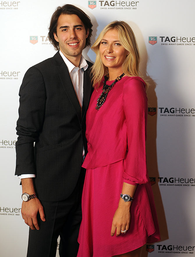 Maria Sharapova with Sasha Vujacic