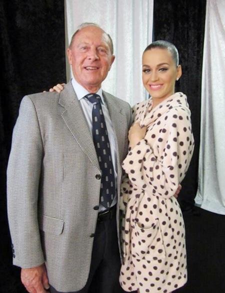 Geoffrey Boycott with Katy Perry