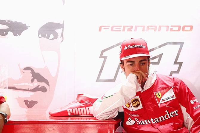 Fernando Alonso of Spain and Ferrari